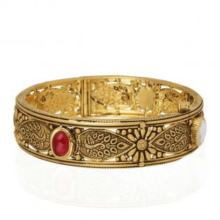 Gupta Dynasty Ethnix Gold Bangle BAANBVA005