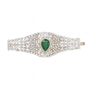 Mughal Dynasty Era Uncut Diamond Gold Bracelet BRERBVA001