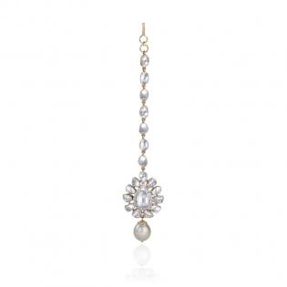Mughal Dynasty Era Uncut Diamond Gold Chutty CTERBVA001