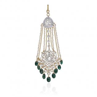 Mughal Dynasty Era Uncut Diamond Gold Jhoomer CTERBVA002