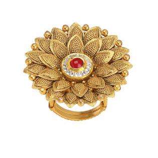 Gupta Dynasty Ethnix Gold Ring FRANBVA001