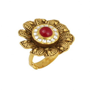 Gupta Dynasty Ethnix Gold Ring FRANBVA003