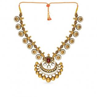 Gupta Dynasty Ethnix Gold Necklace NEANBVA002