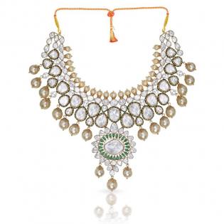Mughal Dynasty Era Uncut Diamond Gold Choker NEERBVA001