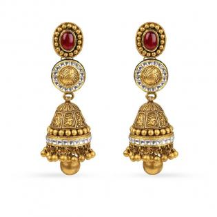 Gupta Dynasty Ethnix Gold Earring STANBVA002