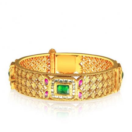 Gujarati Malabar Gold Kundan Bangdi BANQKNB01877