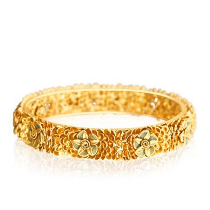Malabar Muslim Malabar Gold Antique Bangle CBG0247AN