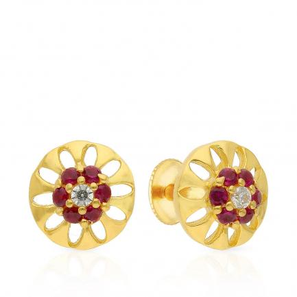 Malabar Gold Earring ERSK3072B