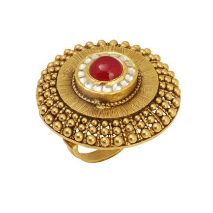 Gupta Dynasty Ethnix Gold Ring FRANBVA002