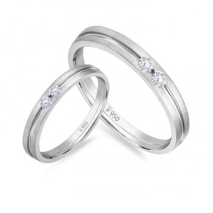 Mine Platinum Diamond Couple Bands JIRR5624LG