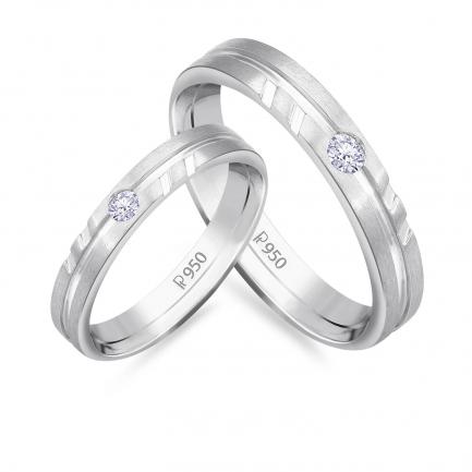 Mine Platinum Diamond Couple Bands JIRR5626LG