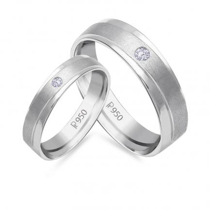 Mine Platinum Diamond Couple Bands JIRR5627LG