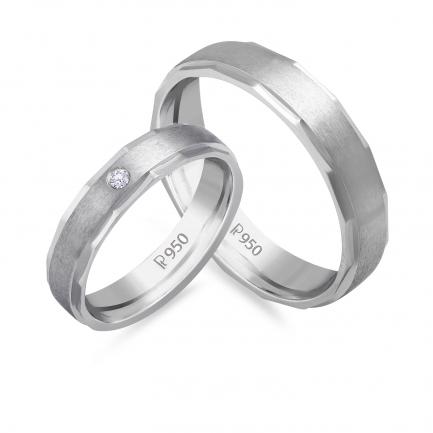 Mine Platinum Diamond Couple Bands JIRR5629LG