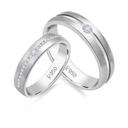Mine Platinum Diamond Couple Bands JIRR5631LWDG