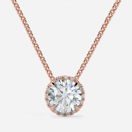 Mine Solitaire Rose Gold Pendant Mount MBPD10110R