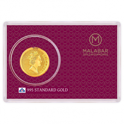 Malabar Gold Designer Coin 995 Purity Elizabeth MGEL995B