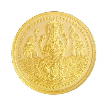 916 Purity 1 Grams Laxmi Gold Coin MGLX916P1G