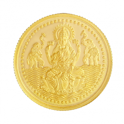 916 Purity 5 Grams Laxmi Gold Coin MGLX916P5G