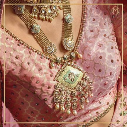 2020 Edition Traditional Yet Modern Bride Necklace NEETANCLMVJ011