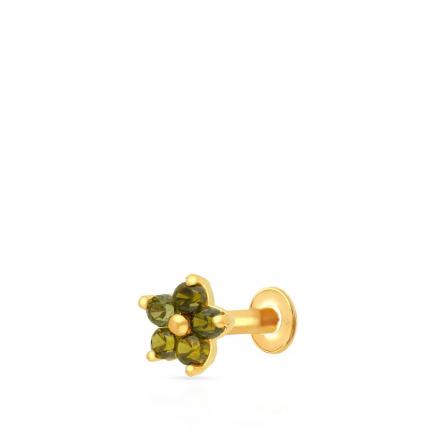 Malabar 22 KT Studded Gold Screw Nosepin NPDSDZ081