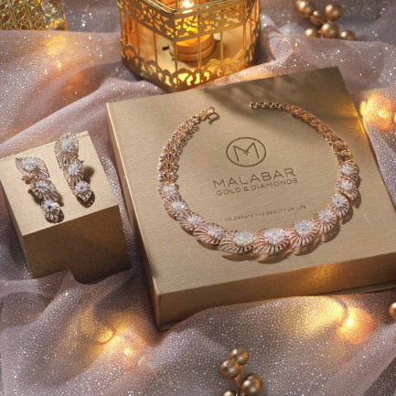 Mine Diamond Necklace Set NSBMNFSET193NK