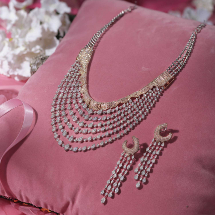 Mine Diamond Necklace Set NSBMNNK4561NK