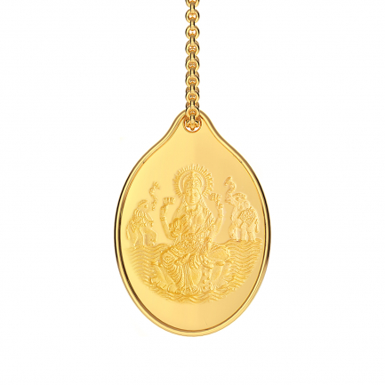 999 Purity 3 Grams Laxmi Impression Gold Coin Pendant PDLX999P003G