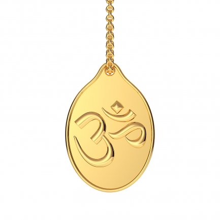 999 Purity 3.5 Grams OM Impression Gold Coin Pendant PDOM999P305G