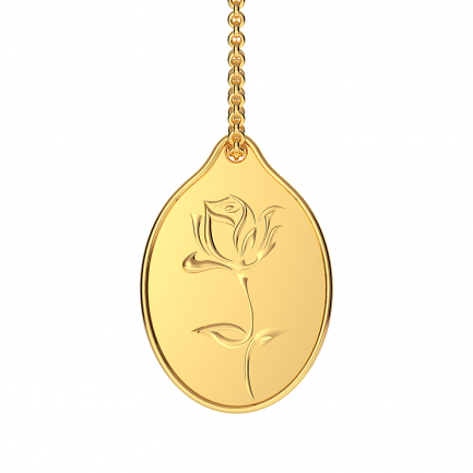 999 Purity 3.5 Grams Rose Gold Coin Pendant PDRS999P305G