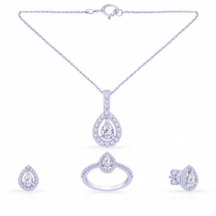 Mine Diamond Pendant Set PS1168