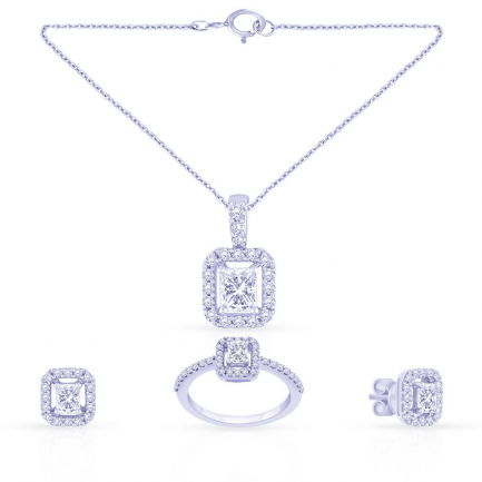 Mine Diamond Pendant Set PS1449
