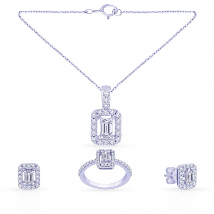 Mine Diamond Pendant Set PS1506