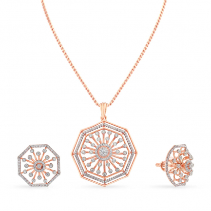 Mine Diamond Pendant Set PSMBPD10318