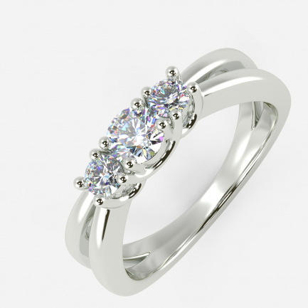 Mine Solitaire White Gold Ring Mount R651339W