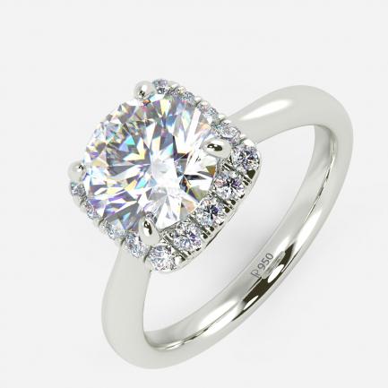 Mine Solitaire Platinum Ring Mount RG43585EP