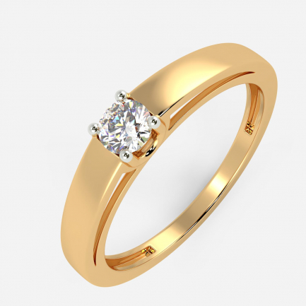 Mine Solitaire Yellow Gold Ring Mount UIRG21057EY
