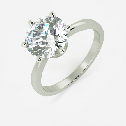 Mine Solitaire White Gold Ring Mount UIRG21653TW