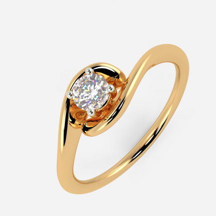 Mine Solitaire Yellow Gold Ring Mount UIRG45790GY