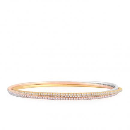 Mine Diamond Studded Light Weight Bangle VKDBG-BAN00046