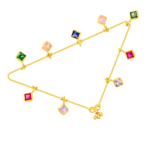 Malabar Gold Anklet Set ASAN123100