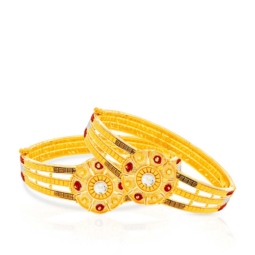 Malabar Gold Bangle Set BSBG168520