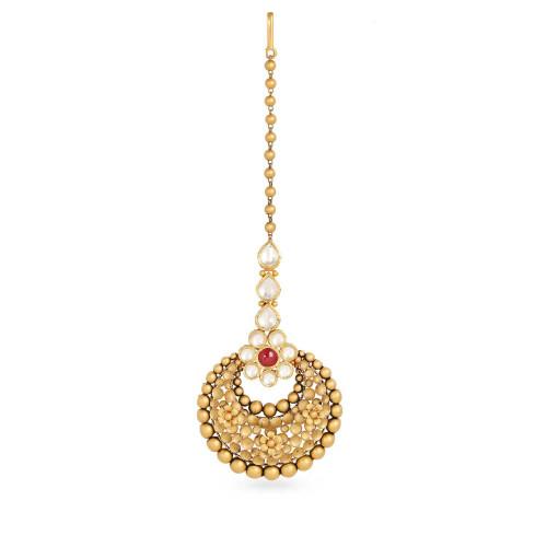 Gujarati Bride Ethnix Gold Maang Tikka CTGEANKDRGA029
