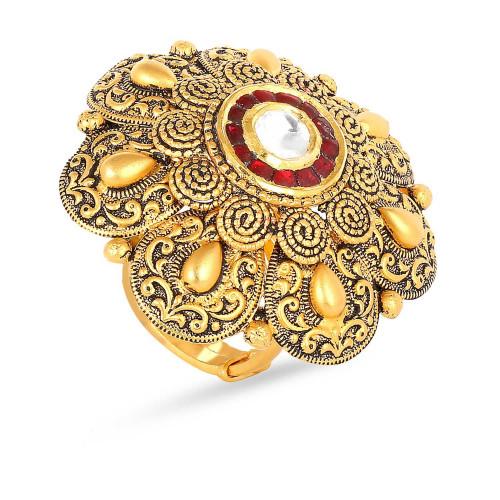 Gujarati Bride Ethnix Gold Ring FRGEANKDBRA057