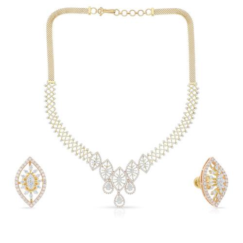 Mine Diamond Necklace Set NSMBDINB031NK2