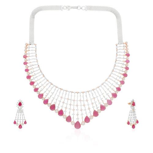 Mine Diamond Necklace Set NSMBDINB329NK2