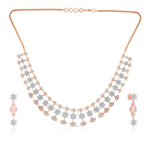 Mine Diamond Gold Necklace Set NSMN2AKT20NK004