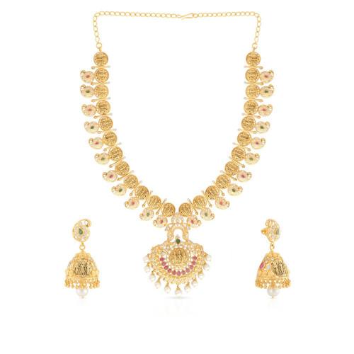 Precia Gemstone Necklace Set NSPGNPAT035NK2