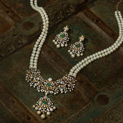 Mind Diamond Necklace Set NSUSMBDHRC001NK2