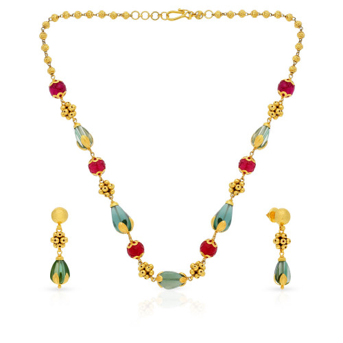 Ethnix Gold Necklace Set NSUSNK036882