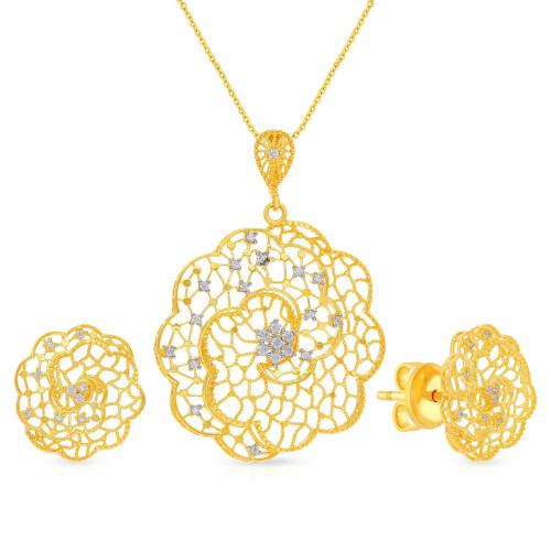 Malabar Gold Pendant Set PSPD035993